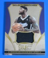 2013-14 PANINI SELECT SWATCHES DEMARCUS COUSINS JERSEY BASKETBALL CARD