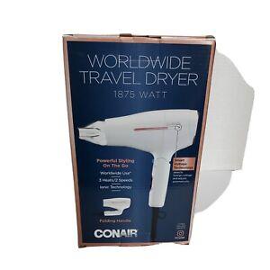 Conair Worldwide Travel Dyer 1875 W Smart Voltage Tech Open Box