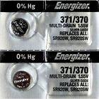 2-371/370- 2 Qt. Energizer Battery  SR920SW  SR920W V371-Authorized seller.