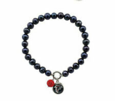 Atlanta Falcons Honora Freshwater Cultured Pearl Bracelet & Charm 6 3/4 inches