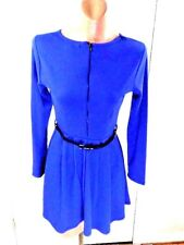 Forever 21 Royal Blue Long Sleeves Ladies Dress with Black Belt Small