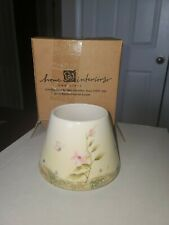 HOME INTERIORS JAR CANDLE SHADE WITH FLOWERS Butterflies, Grass Spring NEW 12089