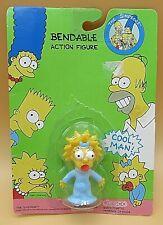 "1991 Maggie Simpson BENDABLE PVC MINI Figure The Simpsons 2"" toy VINTAGE NEW"