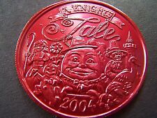 2004 Excalibur HUMPTY DUMPTY-BO PEEP-MOTHER GOOSE Red Alum. Mardi Gras Doubloon