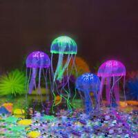 4Pcs Aquarium Jellyfish Glowing Effect Fish Tank Artificial Decoration Ornament.
