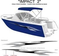"BOAT GRAPHICS  DECAL STICKER KIT ""IMPACT 2 -1800""  MARINE CAST VINYL"