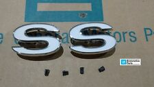 Chevelle SS metal Fender emblems pair with clips 69 70 71 72 Chevelle El Camino