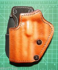 Front Line LKC38PL-BR LH Leather over Kydex Paddle Holster Suede Lined SIG P225