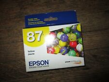 New Genuine Epson 87 T0874 T087420 R1900 Yellow Ink Cartridge RtlPak 2016 EXP