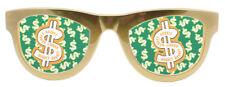 Dollarbrille Dollarzeichen XL Sonnenbrille Scherzbrille Clownbrille Dollar