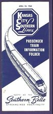 1960 Kansas City Southern Lines Railroad Time Tables / Schedules