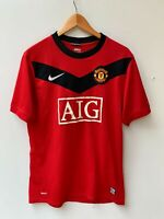 Nike Manchester United Soccer Football Jersey NikeFIT AIG Red Size M
