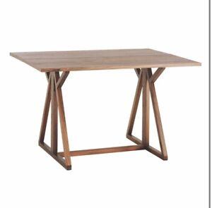 Habitat Heath Walnut 2-4 Seater Folding Dining Table Desk
