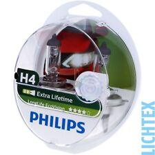 H4 PHILIPS LongLife EcoVision - Scheinwerfer Lampe - DUO-Pack NEU
