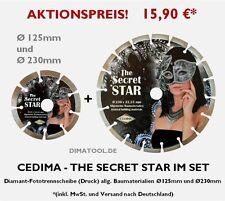 1x230mm + 1x125mm Cedima Secret Star im Set Diamanttrennscheibe Beton