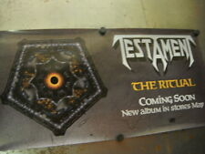 TESTAMENT Ritual Is Coming Soon... 1992 PROMO POSTER mint condition