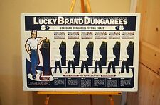 VINTAGE 50's LUCKY BRAND DUNGAREES PANTS SHIRTS OVERALLS WORK WEAR OLD SIGN MINT