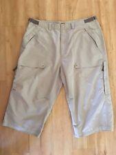 Men's ESPRIT Cargo Pants Size 40 Beige Cotton Casual Quick Dry Zip Up Pockets