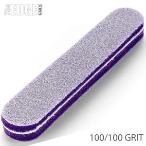The Edge Nails PURPLE Foamie Sponge Nail File 100/100 GRIT nail Sanding Buffer