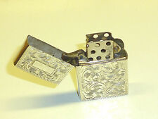 VINTAGE POCKET WICK PETROL LIGHTER W. 950 SILVER CASE - BRIQUET- NICE- RARE