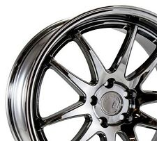 Aodhan DS02 18x9.5 +15 18x10.5 +22 5x114.3 Black Vacuum Staggered (Set of 4)