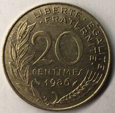 F.156 Monnaie Française 20 Centimes Marianne 1986 Achat Unitaire