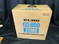 Elmo Mod GS-800 Stereo Sound Super 8 Projector For parts Junk Japan