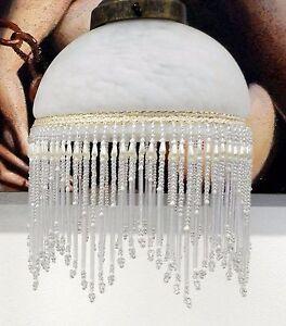 Vetro di ricambio per lampada bianco perline applique lampadari campanella