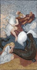 "52""x 28"" St. George Religious Icon Marble Mosaic For Church Art Tile Stone Decor"