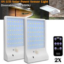 2x 48 LED Solar Power PIR Motion Sensor Garden Yard Dimmable Wall Street Light