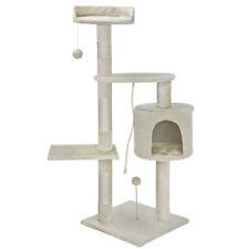 Albero Tiragraffi per Gatti Parco Giochi Cuccia Graffiatoio gatto H 112 cm Crema