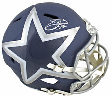 Cowboys Emmitt Smith Signed Alternate Amp Full Size Speed Rep Helmet BAS