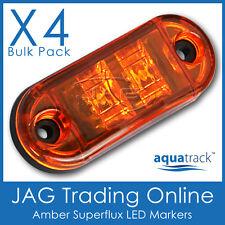 4 x 12V SUPERFLUX LED AMBER MARKERS- Boat/Truck/Trailer/Caravan Clearance Lights