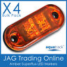 4 x 12V SUPERFLUX LED AMBER MARKERS- Boat/Truck/Trailer/Caravan Clearance Lights