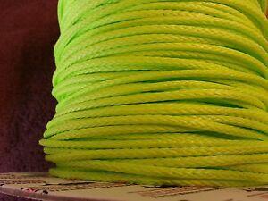 "5/32"" per-10 ft Neon Green Endura 12, New England Ropes dyneema SK75 #1527-05"