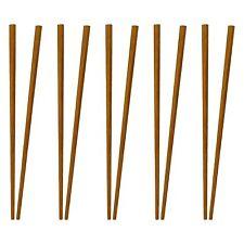 10 Pair Of Bamboo Chop Sticks Chopsticks Reusable Good Grip UK SELLER