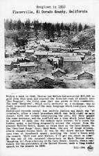 RPPC PLACERVILLE, CA Hangtown in 1850 Gold Rush El Dorado County c1940s Postcard