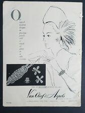 1947 Van Cleef & Arpels vintage jewelry precious Diamond Jewels ad