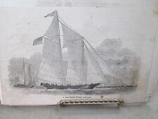 Vintage Print,GLOUCESTOR,Schooner,Harpers,1860
