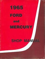 1965  FORD & MERCURY  PASSENGER CAR SHOP MANUAL-GALAXIE  PARKLANE  MONTEREY