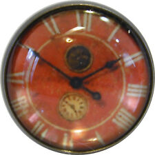 1 inch Crystal Dome Button Clock Face #1 FREE US SHIPPING