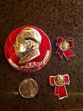 China Propaganda Pins Mao Lenin Vintage