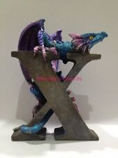 "Purple Dragon Alphabet ""X"" Dragon Statue Dragon Figurine Spell your Name or More"