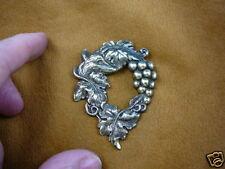 (#B-fox-100) Fox red graped vine grape foxes wild dog pin pendant jewelry aesops