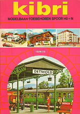 KIBRI CATALOGUS Modelbaan-Toebehoren HO + N  1974/1975