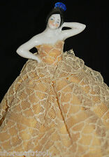 19th C. Antique Bisque / China Doll Beautiful Hand Painted Face & Pose