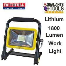 Faithfull Rechargeable Lithium Ion SMD LED Work Site Light Folding 1800 Lumen