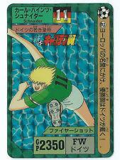 Bandai Japan 1992 Captain Tsubasa Part 1 No.2 Schnaider  Prism Card Vintage Rare
