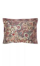 Ralph Lauren Larson Burgundy King Pillow Sham, Bohemian Muse, New Floral, R$185