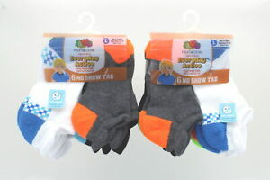 Lot of 12 Pairs Fruit Of The Loom Kids Assorted Colors Boys Socks Size 7.5-11